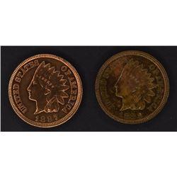 1887 AU/BU & 88 CH BU INDIAN CENTS