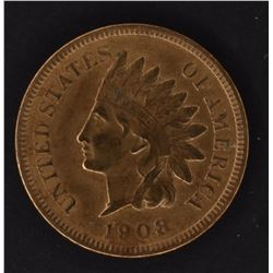 1908-S INDIAN CENT, AU cleaned