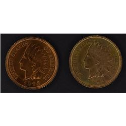 1892 & 93 INDIAN CENTS, CH BU