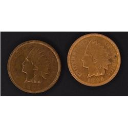 1896 & 1905 CH BU INDIAN CENTS