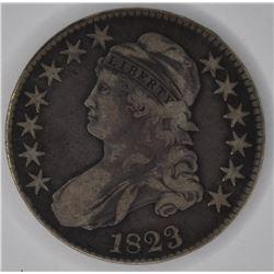 1823 BUST HALF DOLLAR, VF
