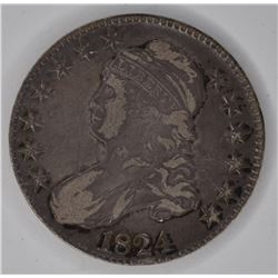 1824 BUST HALF DOLLAR, XF