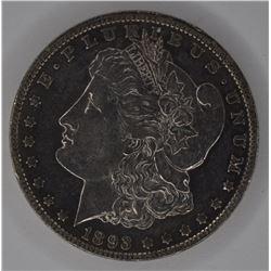 1893-O MORGAN DOLLAR, AU/BU