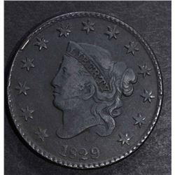 1829 LARGE CENT F