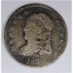 1830 CAPPED BUST HALF DIME, VG/F