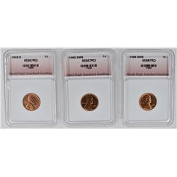 1942-S, 1965 SMS, 1966 SMS LINCOLN 1c