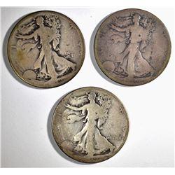 3-1918-S WALKING LIBERTY HALF DOLLARS:
