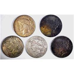 1922, 2-1922-S & 2-1923 CIRC PEACE DOLLARS