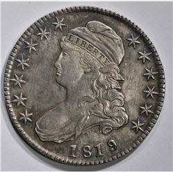 1819/8 CAPPED BUST HALF DOLLAR  UNC