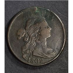 1802 LARGE CENT, VF PLANCHET FLAW