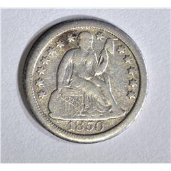 1850-O SEATED DIME, VF  KEY
