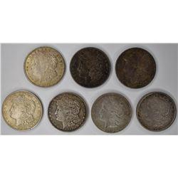 7-CIRC 1921 MORGAN DOLLARS