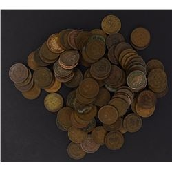 100-MIXED DATE CIRC INDIAN HEAD CENTS