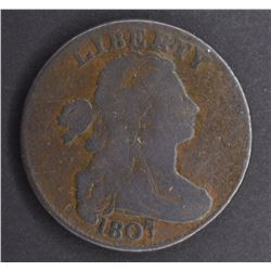 1807 DRAPED BUST LARGE CENT, GOOD+