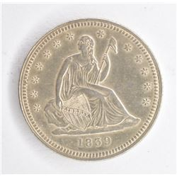 1839 SEATED QUARTER, CH BU