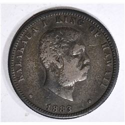 1883 HAWAII QUARTER, VF+