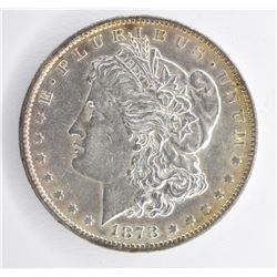 1878 7/8TF STRONG MORGAN DOLLAR, CH BU