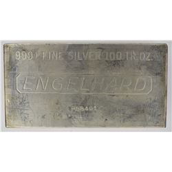 100-OUNCE .999 SILVER ENGELHARD BAR