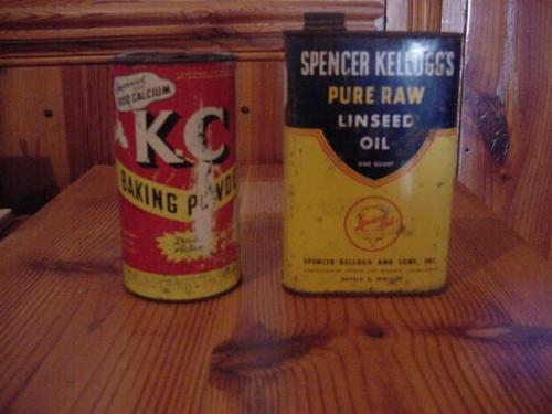 KC Baking Powder, Spensor Linseed Oil - 1950's