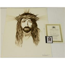 "251) ""CHRIST"" WILLIAM VERDULT OIL ON ARTIST PAPER"