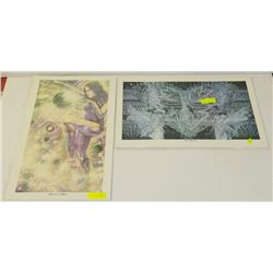 TWO BUNDLES OF SIGNED NUMBERED PRINTS