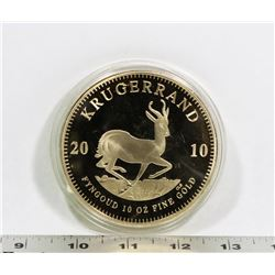 2010 REPLICA 10 OZ KRUGERAND COIN