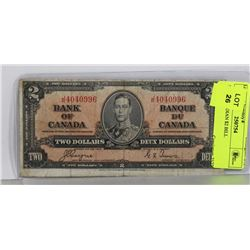 1937 CANADIAN $2 BILL