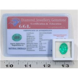 #19-NATURAL GREEN EMERALD GEMSTONE 9.37CT
