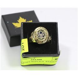 MAPLE LEAFS REPLICA  STANLEY CUP RING