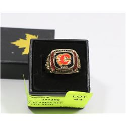 CALGARY FLAMES REPLICA  STANLEY CUP RING