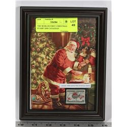 THE WORLDS FIRST CHRISTMAS STAMP 1898 CANADIAN