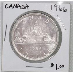 CANADA 1966 SILVER DOLLAR COIN.