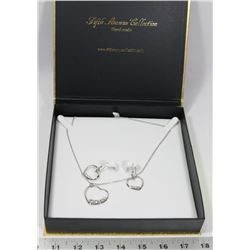 FIFTH AVENUE HEART STERLING SILVER NECKLACE &