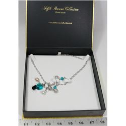 FIFTH AVENUE GEMSTONE NECKLACE AND EARRING SET