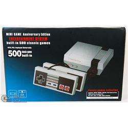 NEW ANNIVERSARY EDITION 500 BUILT IN GAMES SYSTEM