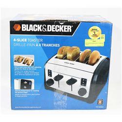 BLACK & DECKER 4-SLICE TOASTER WITH
