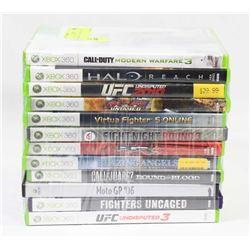 BUNDLE OF 12 XBOX 360 GAMES -