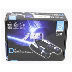 DIGITAL CAMERA BINOCULARS 8X32 LCD DISPLAY 1080P