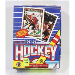 1991-92 O-PEE-CHEE HOCKEY BOX(TAPED) 10 CARDS