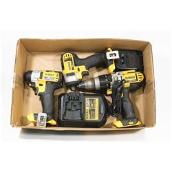"""BOX W/DEWALT TOOLS - DCD985 1/2"""""""