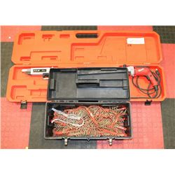 PAM AUTOFEED SCREW GUN SOLD WITH TOOL BOX FULL OF