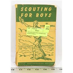 VINTAGE SCOUTING FOR BOYS BY BADEN POWELL