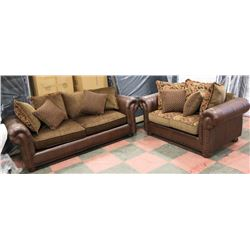 """AB 3290 NEW FLORAL UPHOLSTERED 89"""" SOFA W/ 69"""""""