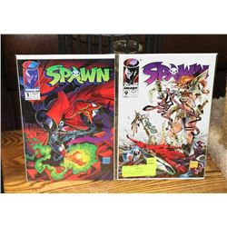 SPAWN #1 AND #9 FIRST APPEARANCE COMICS