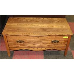 """WOOD BENCH WITH DRAWER, 38""""X19""""X18"""""""
