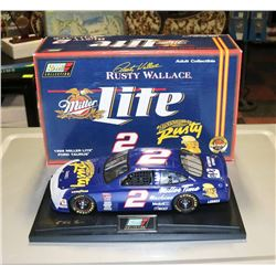RUSTY WALLACE MILLER LITE 1:18 REVELL NASCAR