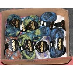 LARGE BOX JAPANESE SILK AND WOOL BLENDS