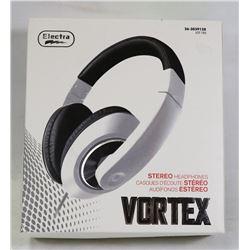 NEW VORTEX STEREO HEADPHONES ( WHITE )