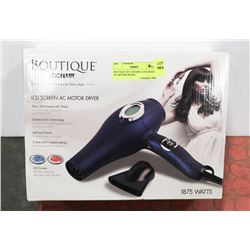 BOUTIQUE BY CONAIR LCD SCREEN AC MOTOR DRYER