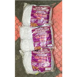 LOT OF 3- GREY 1LB BAGS OF 100% ACRYLIC YARN